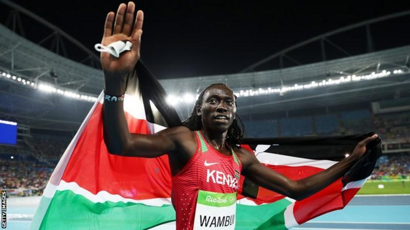 Kenya's Margaret Wambui won bronze over 800m at the 2016 Olympics in Rio