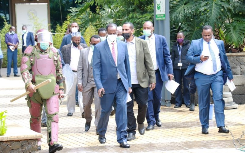Wajir Ousted Governor Mohamed Abdi accused state of using Police to stop him from accessing Delta House ,COG Offices